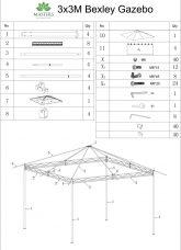 Bexley Gazebo 3x3 Instructions Cover