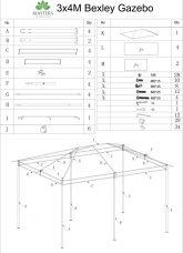Bexley Gazebo 3x4 Instructions Cover