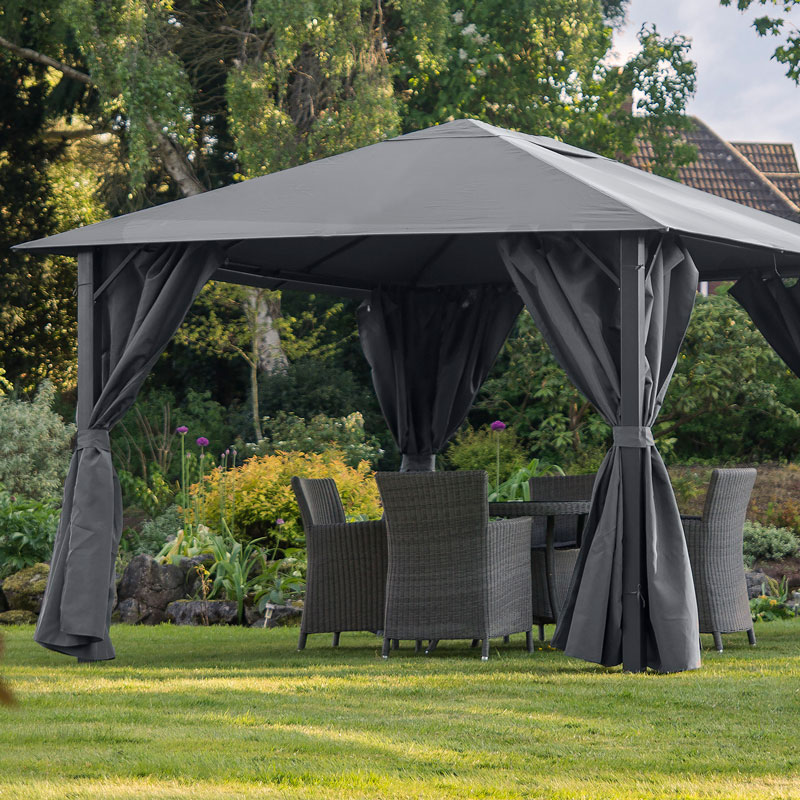 gazebo replacement canopy only provence 3x4 graphite grey fully waterproof ebay