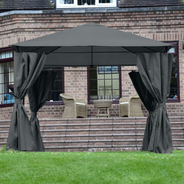 Bexley Gazebo Grey 3x3 Square