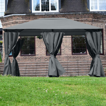 Bexley Gazebo Grey 3x4 Square