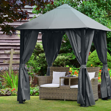 Eco Space Gazebo 2m X 2m Graphite Grey