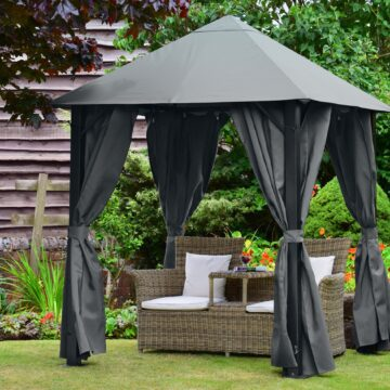 Paris Gazebo 3x3 Grey Square
