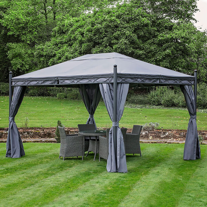 Paris Gazebo 3x4 Grey Square