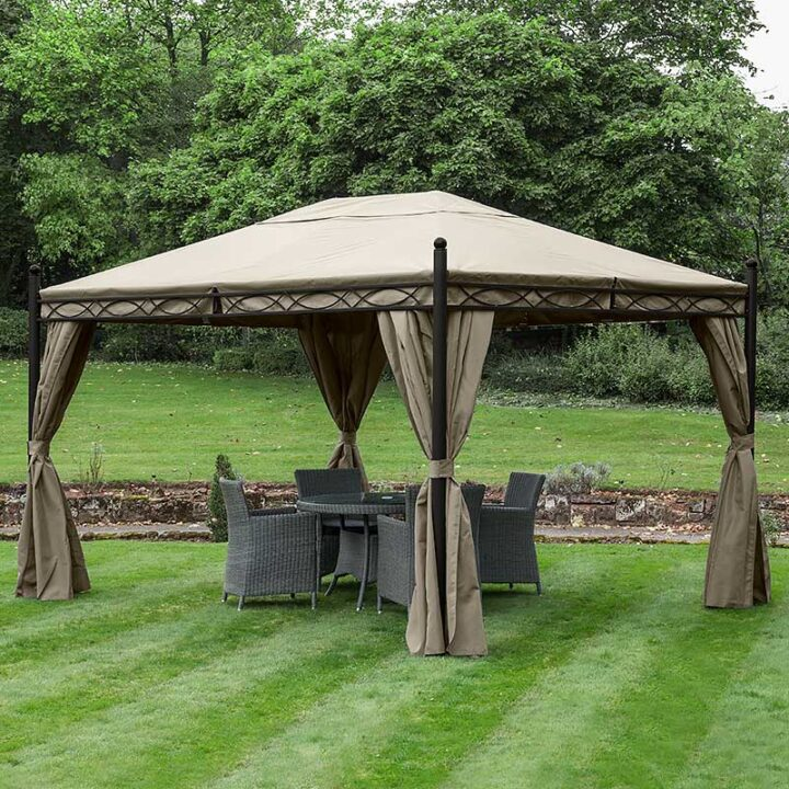 GAZEBO LARGE HEAVY DUTY 57KG GARDEN GAZEBO WATERPROOF