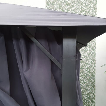 Provence 3x3 Gazebo Grey Detail 06